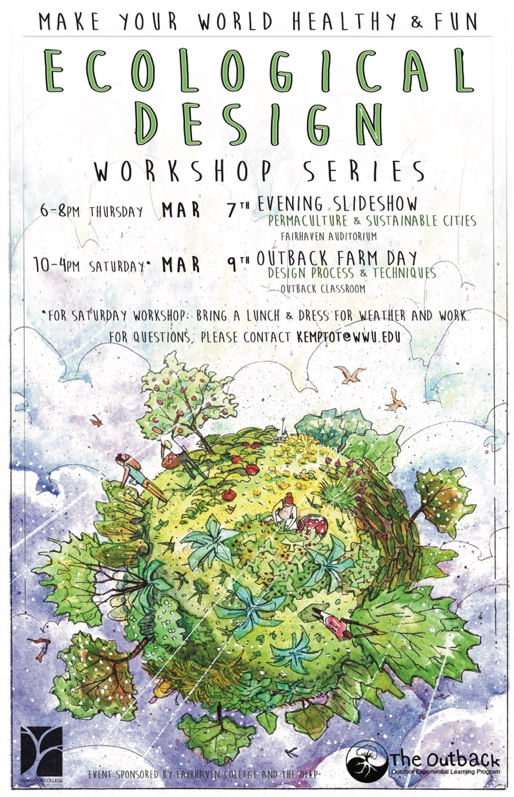 Ecological design workshop series poster