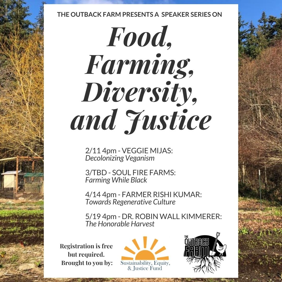 ad for Outback Special Event food farming diversity and justice feb 11 2021
