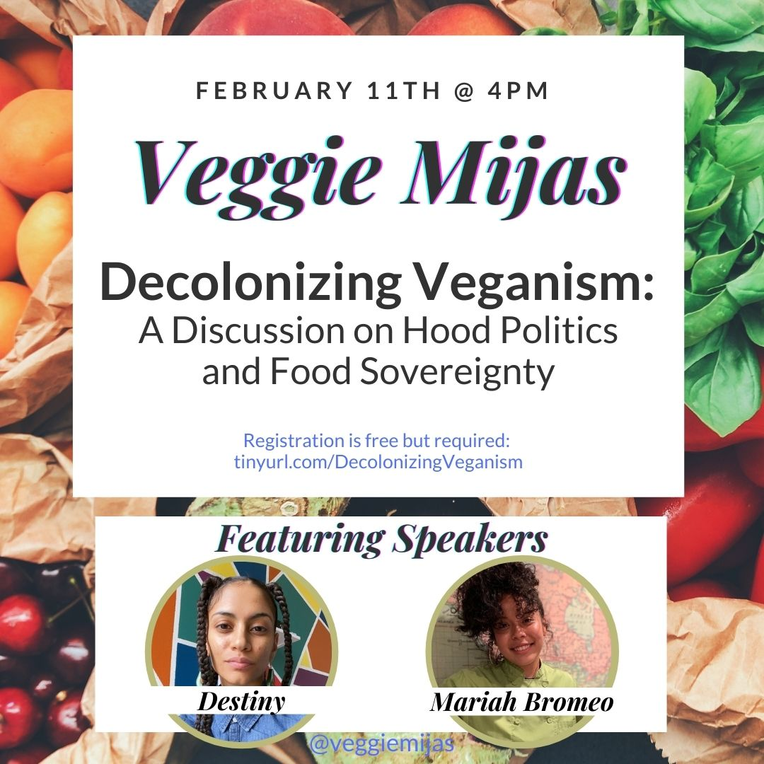 ad for Veggie Mijas Decolonizing veganism